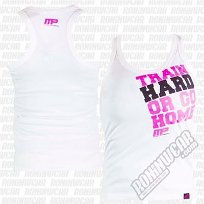 Muscle Pharm MPLVST489 Ladies Printed Vest Blanc