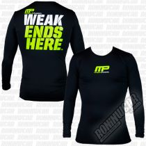 Muscle Pharm Weak Ends Here Rashguard LS Schwarz