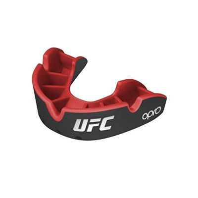 OPRO Self-fit UFC Silver Mouthguard Black-Red
