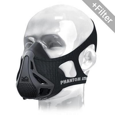 Phantom Training Mask Con Filtro Particulas GDK Negro