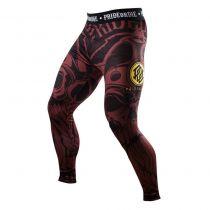 Pride Or Die Compression Pants Brotherhood Negro-Marron