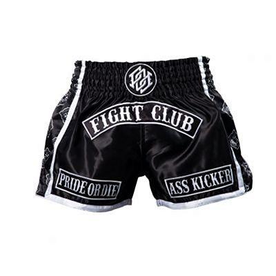 Pride Or Die Fight Club Muay Thai Shorts Schwarz