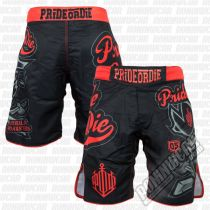 Pride Or Die Fightshort No-Rules Schwarz-Rot
