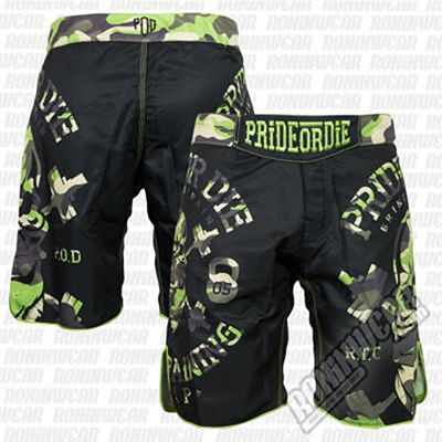 Pride Or Die Fightshort RaW Training Camp Jungle Nero
