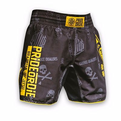 Pride Or Die Hang Loose Fightshorts Grey-Yellow