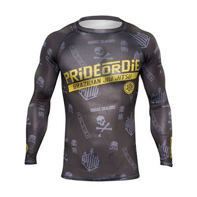 Pride Or Die Hang Loose Rashguard Black