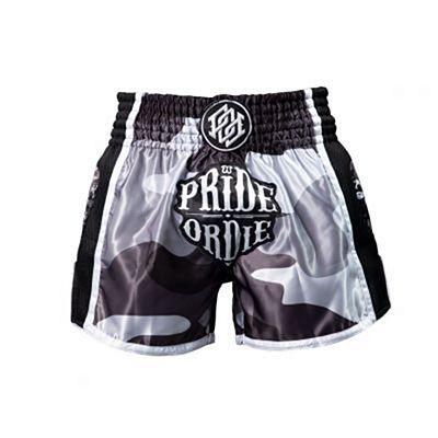 Pride Or Die Reckless Urban Camo Muay Thai Shorts Schwarz-weiß