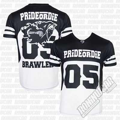 Pride Or Die T-shirt Mesh Brawlerz AllSports Black-White