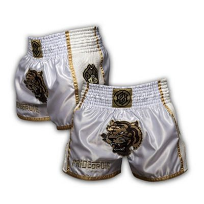 Pride Or Die Unleashed Muay Thai Shorts Bianco