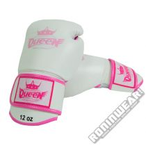 Queen BGQ-1 Boxing Glove Blanco-Rosa