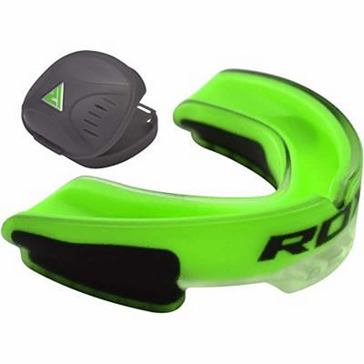 RDX Air Gel Gum Shield Mouthguard Verde-Preto