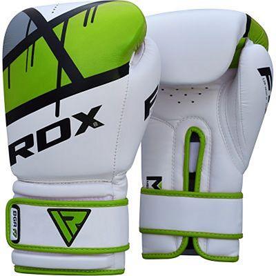 RDX Boxing Gloves BGR-F7 Vit-Grön
