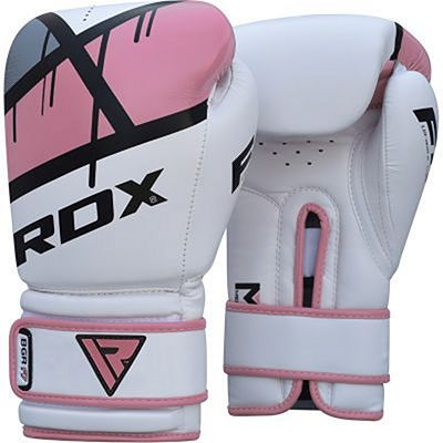 RDX Boxing Gloves BGR-F7 White-Pink