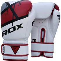 RDX Boxing Gloves BGR-F7 White-Red