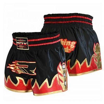 RDX Crimson Satin Muay Thai Shorts MTS-R2B Nero-Rosso