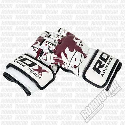 RDX GGL-F1W Leather Blood MMA Fighting Grappling Gloves