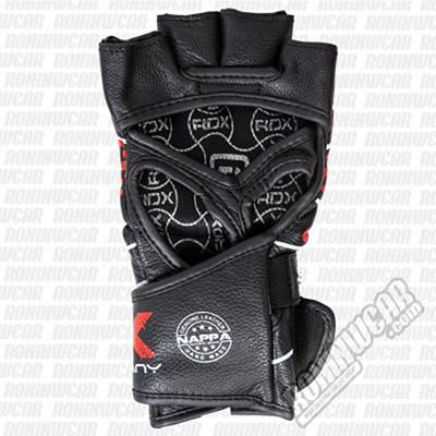 RDX GGL-F2B Leather Blood MMA Fighting Grappling Gloves