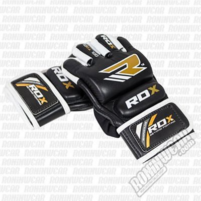 RDX GGL-T2GL Leather Gel MMA Training Fighter Gloves