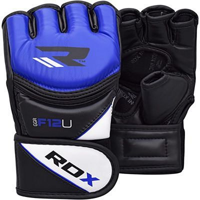 RDX Leather-X Training MMA Grappling Gloves Azul