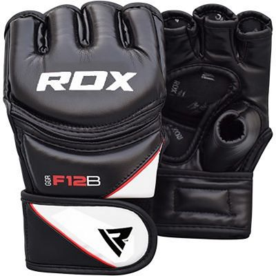 RDX Leather-X Training MMA Grappling Gloves New Nero