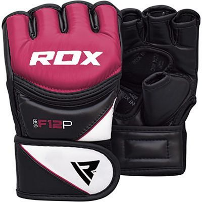RDX Leather-X Training MMA Grappling Gloves New Viola