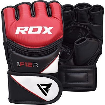 RDX Leather-X Training MMA Grappling Gloves New Rosso