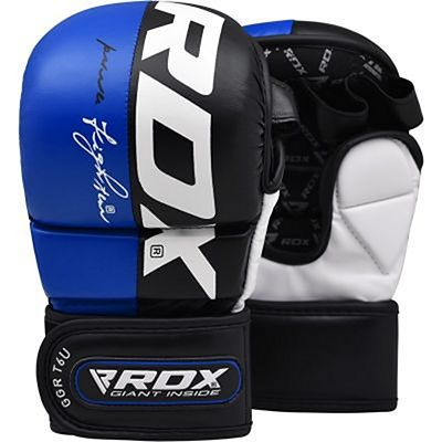 RDX Sparring Gloves T6 Preto-Azul