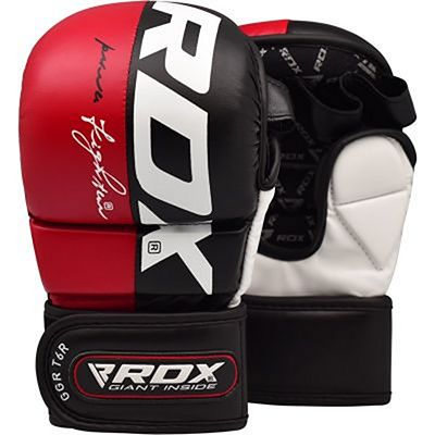RDX Sparring Gloves T6 Nero-Rosso