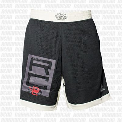 Reebok Combat Boxing Short Schwarz-weiß