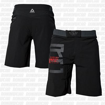 Reebok Combat MMA Fight Shorts Negro