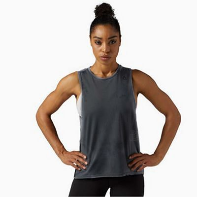 Reebok Combat Spray Dye Tank Grey