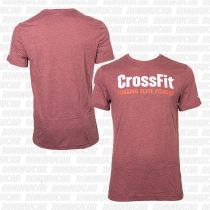 Reebok CrossFit Forging Elite Fitness T-shirt Rugged Maroon