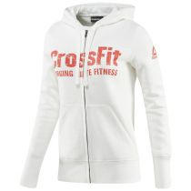 Reebok Crossfit Full Zip Hoodie Women Branco