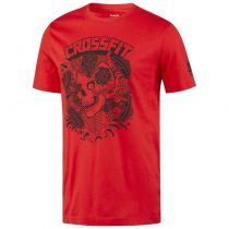 Reebok CrossFit X Mike Giant Skull Graphic Tee Rojo