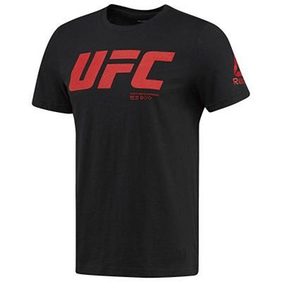 Reebok Mens UFC Fan Gear Logo S/S Tee Black-Red