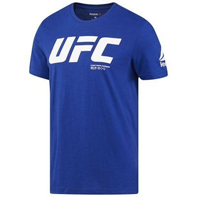 Reebok Mens UFC Fan Gear Logo S/S Tee Blue-White