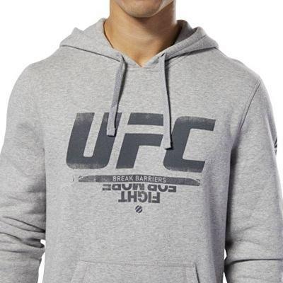 Reebok UFC Fan Gear Hoodie Cinza