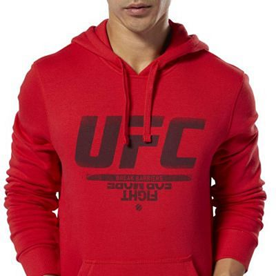 Reebok UFC Fan Gear Hoodie Red