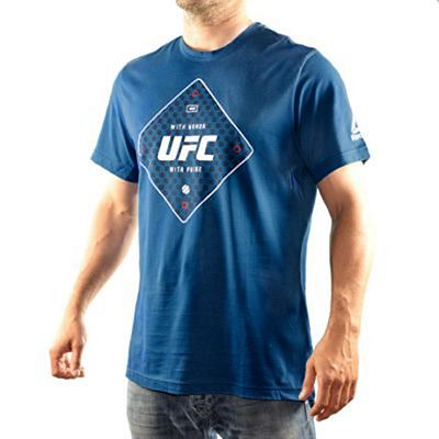 Reebok UFC FG Text Tee Blue