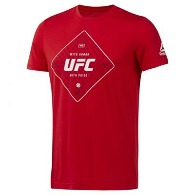 Reebok UFC FG Text Tee Rouge