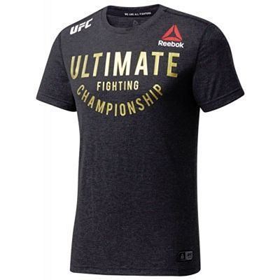 Reebok UFC Fight Night Walkout Jersey Nero-Oro