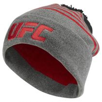 Reebok UFC Ultimate Fan Cuffed Pom Knit Gris-Rojo