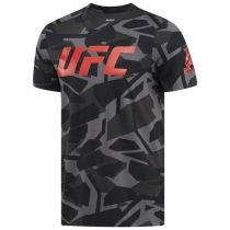 Reebok UFC Ultimate Fan Graphic Tee Negro-Gris