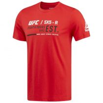 Reebok UFC Ultimate Fan Graphic Tee Rojo