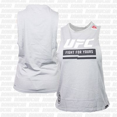 Reebok UFC Ultimate Fan Logo Sleeveless Tee Gris