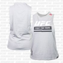 Reebok UFC Ultimate Fan Logo Sleeveless Tee Grau