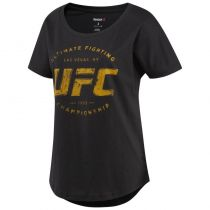 Reebok Womens UFC Ultimate Fan Logo Negro