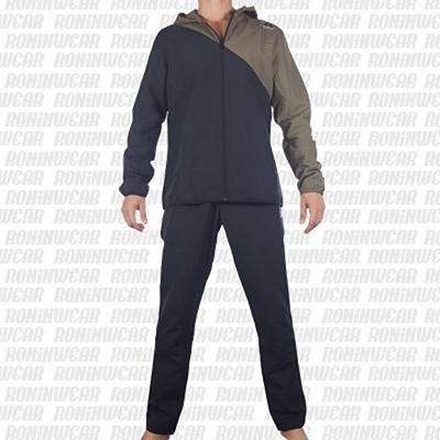 Reebok Woven Tracksuit Army Gris-Negro