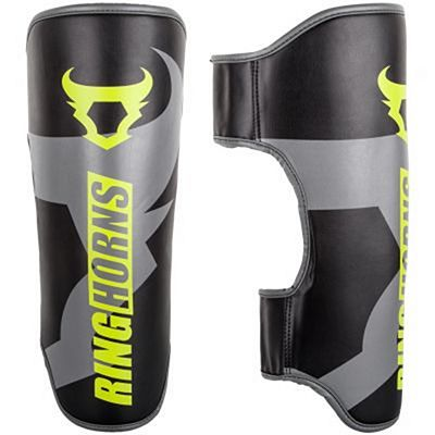 Ringhorns Charger Shin Guards Simple Black-Yellow