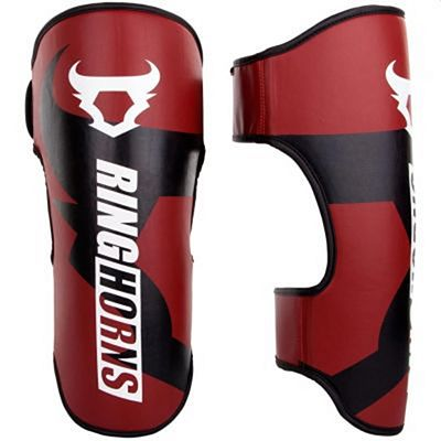 Ringhorns Charger Shin Guards Simple Red
